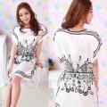 White Silk Butterfly Pajamas | Pajamas Untuk Wanita Code 504