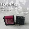 UK Black Coal Natural Soap | Sabun Arang Sental Cerahkan Kulit