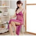 Purple Temptation Transparent Long Dress | Code LD507