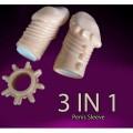 Endurance Sets Penis Sleeve | Sarung Pembalut Zakar 3 Dalam 1