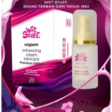 Wet Stuff Orgasm Cream Premium Edition | Krim Ghairah Nafsu Seks Wanita